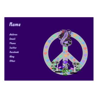 Cobra do símbolo de paz cartão de visita