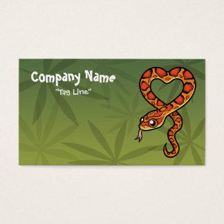 Cobra dos desenhos animados cartão de visitas