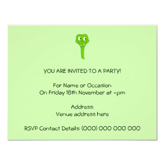 Cobra dos desenhos animados convite personalizados