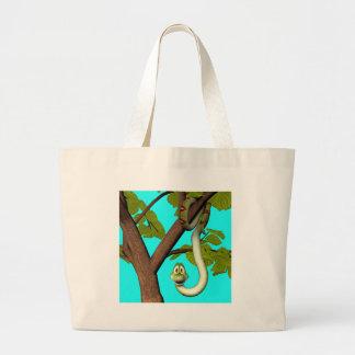 Cobra dos desenhos animados na árvore bolsas para compras