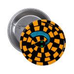 Cobra - ilusão óptica (ouro) botons