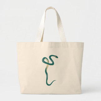 Cobra verde dos desenhos animados sacola tote jumbo