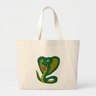 Cobra verde sacola tote jumbo