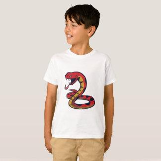 Cobra vermelho camiseta