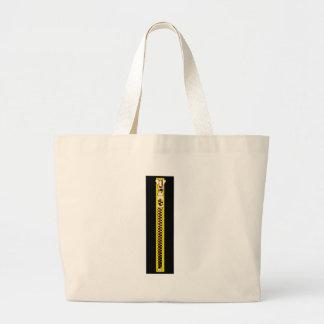Cobre amarelo preto do Zipper o MUSEU Zazzle Bolsa Para Compras