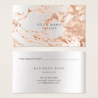 Cobre de mármore abstrato VIP da prata do cartão