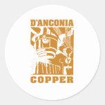 cobre do d'Anconia/logotipo de cobre Adesivos Redondos