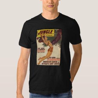 Cobrir 1947 da polpa das histórias da selva - t-shirts