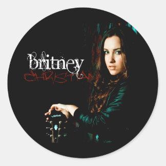 Cobrir CD cristão de Britney Adesivo Em Formato Redondo