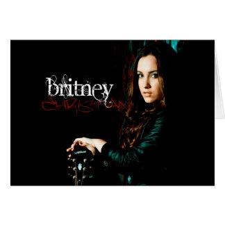 Cobrir CD cristão de Britney Cartão Comemorativo