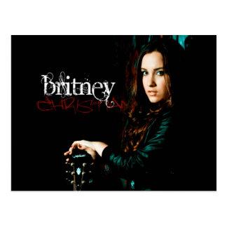 Cobrir CD cristão de Britney Cartão Postal