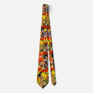 Cobrir de banda desenhada 2b combinado do vintage gravata