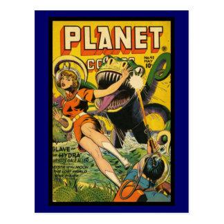 Cobrir de banda desenhada do vintage do cartão