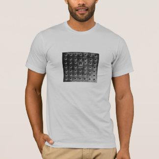Cobrir de caixa do controle (prata) camiseta