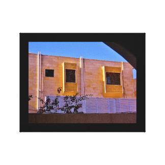 Cobrir de madeira da janela impressão em tela
