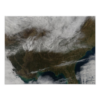 Cobrir de neve que estica de Texas do nordeste Posters