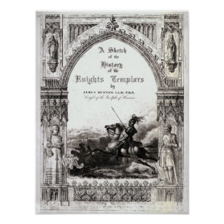 Cobrir 'de um esboço da história os cavaleiros impressão