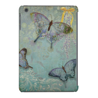 Cobrir do caso do iPad azul do jardim da borboleta Capa Para iPad Mini Retina
