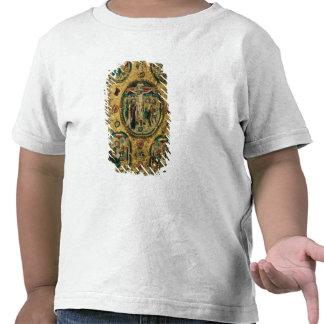 Cobrir do evangelho, ouro com repousse tshirts