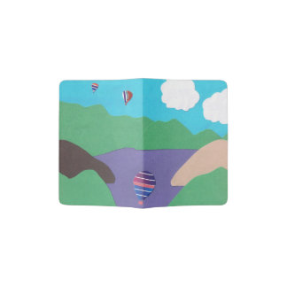 Cobrir do passaporte com a cena da montanha e do capa para passaporte