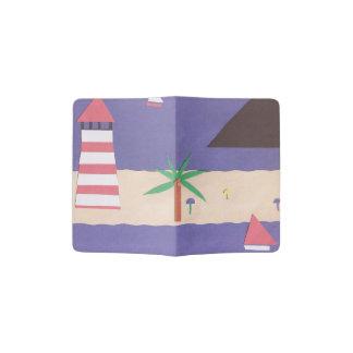 Cobrir do passaporte com a cena náutica capa para passaporte
