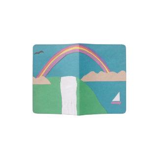 Cobrir do passaporte com uma cena da cachoeira e capa para passaporte