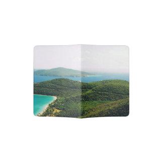 Cobrir do passaporte com uma cena da ilha capa para passaporte