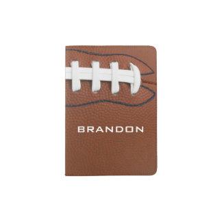 Cobrir do passaporte do design do futebol capa para passaporte