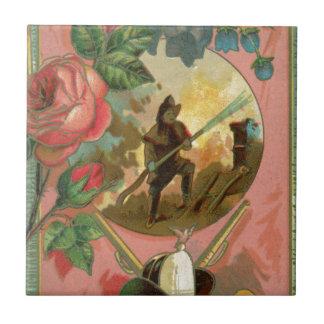 Cobrir do sapador-bombeiro do bombeiro dos 1880's