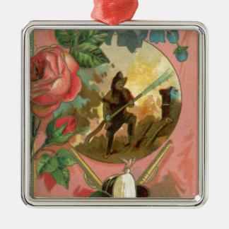 Cobrir do sapador-bombeiro do bombeiro dos 1880's ornamento de metal