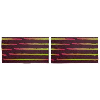 Cobrir do travesseiro - linhas pintadas design