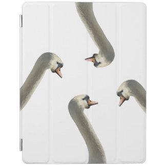 Cobrir esperto do iPad branco das cisnes Capa Smart Para iPad