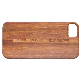 Cobrir iPhone5 personalizados madeira Capa Barely There Para iPhone 5