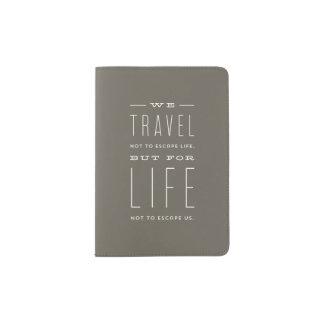 Cobrir moderno do passaporte do escape capa para passaporte