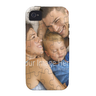 Cobrir personalizado do caso do quebra-cabeça da capa para iPhone 4/4S