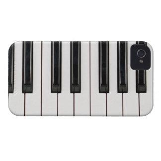 Cobrir preto e branco da caixa do teclado de piano capinhas iPhone 4