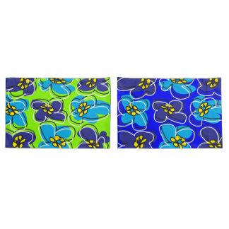 Cobrir reversível retro Green/W azul do