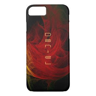 Cobrir vermelho artístico do iPhone de Daniel Capa iPhone 7