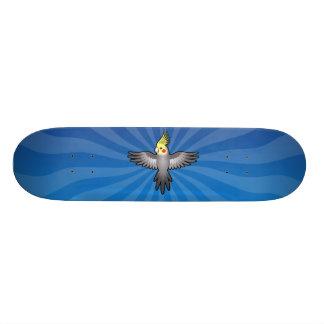 Cockatiel dos desenhos animados shape de skate 20,6cm