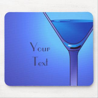Cocktail azul Mousepad de Martini