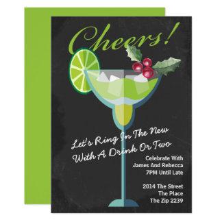 Cocktail do verde do ano novo personalizado convite 12.7 x 17.78cm