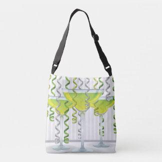 Cocktail e fita verdes bolsa ajustável