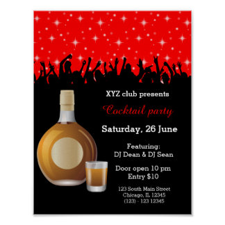 Cocktail * escolha a cor do fundo poster