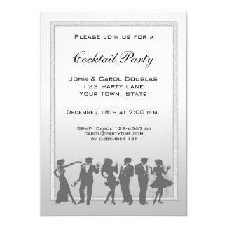 Cocktail, pessoas do convite da silhueta