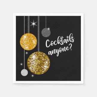 Cocktail qualquer um guardanapo da bola do disco