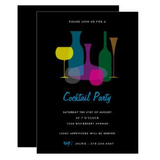 Cocktail retro convite 12.7 x 17.78cm