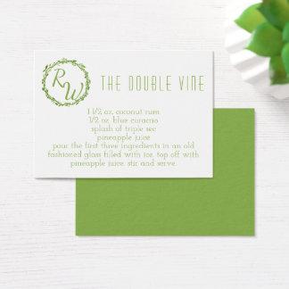 Cocktail Woodsy da assinatura do dia do casamento Cartão De Visitas