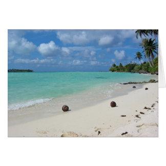 Cocos no cartão da praia