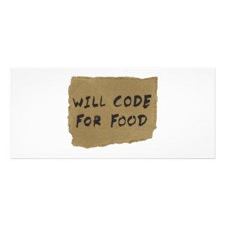 Codificará para a comida 10.16 x 22.86cm panfleto