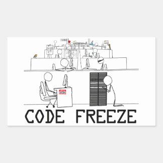 Codifique a etiqueta da arte do cobrir do gelo (4) adesivo retangular